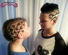 zebra and leopard print hair :)   made by angela  www.facebook.com/skullpturehair