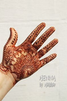Traditional Indian henna design - HennaByHeather.com - inspired by Navneet book