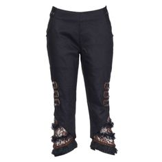3/4 Length Black Lace Trousers