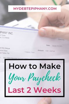 make your paycheck last longer mydebtepiphany Ways To Save Money, Money Tips, Money Saving Tips, Frugal Living Tips, Frugal Tips, College Student Budget, College Students, Setting Up A Budget, Manifesting Money