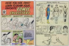 Direct from another giant-sized DC Comics 1973 tabloid comic , here are three pulpy pages, chock-full of instructional advice on drawing t...