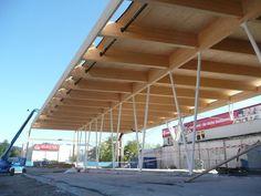 Glulam timber framework - WAREHOUSE ANIF - HASSLACHER NORICA TIMBER