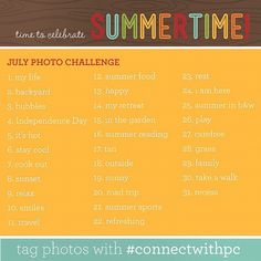 photo a day challenge: July
