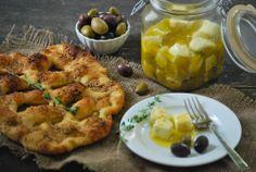 Spice-Marinated Feta and Simple Fougasse