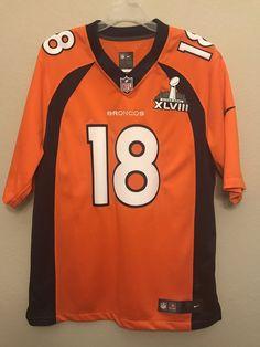 27cd90f7f Large Broncos Peyton Manning Super Bowl XLVIII Jersey  18 NFL Nike On Field   Nike