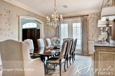 Dining Room designed by Trish Dodson, with Handpainted Walls by Segreto Finishes