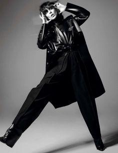 Kati Nescher for Vogue Paris - Alexander Wang PVC and leather coat, Balmain leather shirt