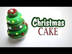 Christmas Tree Cake polymer clay tutorial