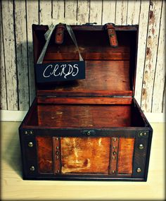 XL Treasure Chest-Wedding Card Holder-Wedding Card Box-Trunk-Suitcase. $50.00, via Etsy.