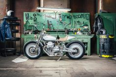 Silver Knight, customized by OMT Garage, is the winner of Lord of the Bikes!   #motoguzzi #MotoGuzziV9 #LordOfTheBikes #bike #custom bike #vintagebike #moto #motore #officina #garage
