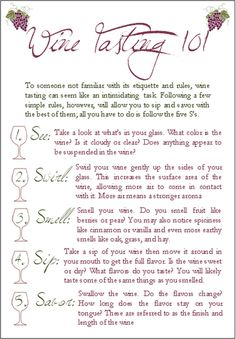 How to Taste Wine