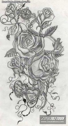 Pin Hawaii Dermatology Boceto Rosa Copy Flores Tattoo Bocetos Ecro On