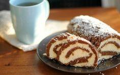 Bounty tekercs, sütés nélküli krémes finomság! Megunhatatlanul finom édesség! Tzatziki, Cake Cookies, Doughnut, French Toast, Deserts, Muffin, Food And Drink, Pudding, Sweets