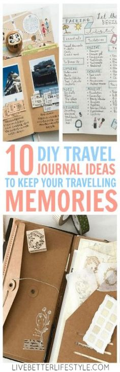 10 DIY Travel Journal Ideas to Keep Your Travelling Memories Do you like to kee. 10 DIY Travel Journal Ideas to Keep Your Travelling Memories Do you like to keep all your travel d Travel Scrapbook, Diy Scrapbook, Scrapbooking, Travel Journal Pages, Travel Journals, New Travel, Travel Books, Travel Gifts, Paris Travel