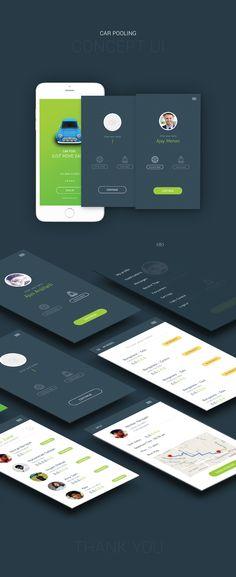 Car Pooling App / Concept Ui on Behance