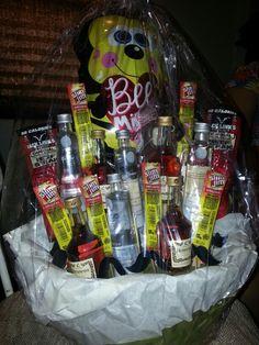 Liquor bouquet for men