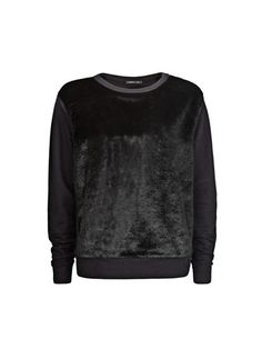 Sweatshirts are no longer just for weekends. Quite possibly the comfiest way to glam up any outfit, a furry sweatshirt will be your new favorite top!  Faux Fur Combi Sweatshirt, $79.99, Mango   - Seventeen.com