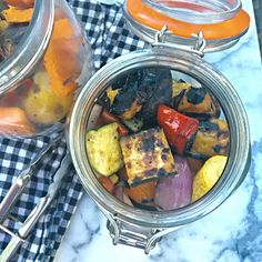 Stash this grilled vegetable mix in your fridge and dinner will be a snap for a whole week!