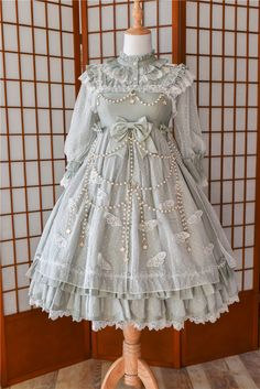 Mr.Fox -Crystal Butterflies- Classic Lolita Jumper Dress