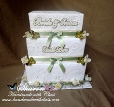 Wedding Card Box, Bride and Groom Box, Money Box, Collection Box by Handmade with Class, $75.00 USD