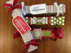 Christmas Crackers made using Envelope Punch Board