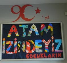 Atatürk Preschool Classroom, Preschool Art, Kindergarten, Class Bulletin Boards, I School, Special Day, Art Projects, Paper Crafts, Kids Rugs
