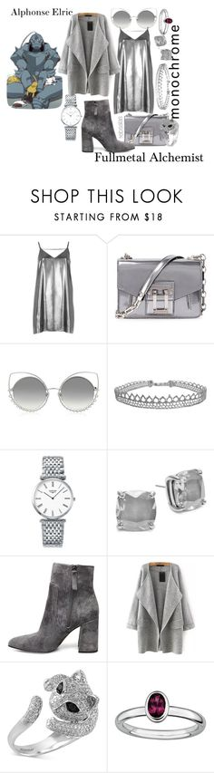 """""""Alphonse Elric (Fullmetal Alchemist)"""" by rebsalas on Polyvore featuring River Island, Proenza Schouler, Marc Jacobs, Humble Chic, Longines, Kate Spade, Steve Madden, Effy Jewelry and Stacks and Stones"""