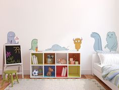 """""""Monsters"""" wallpaper mural by Åsa Wikman from THE WALLERY! Available at http://thewallery.com/shop/monsters-wall-decals-asa-wikman/ in diferent sizes!"""