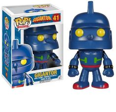 From the American adaptation of the anime version of Tetsujin this amazing Gigantor Pop! Vinyl Figure stands about 3 tall. Gigantor should be a welcome arrival for any dedicated fan of the flying robot! Ages 14 and up. Funko Pop Figures, Vinyl Figures, Action Toys, Action Figures, All Pop, Pop Television, Anime Version, Funko Pop Vinyl, Animation Series