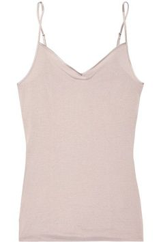 HANRO SATIN-TRIMMED MERCERIZED COTTON CAMISOLE.  hanro  cloth   Camisole 378447bbe