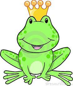 Cute Frog Prince Vector Illustration