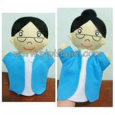Grandma hand puppet made by Pipi Flanel.. Wanna see our feltdolls collection? Please visit our website at www.pipiflanel.com thank you :)