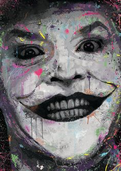 The Joker Jack Nicholson spray paint street by ExtremepandaDesign