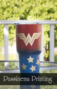 Yeti Travel Tumbler in Red & Blue Powder-coating Yeti Cup, Insulated Tumblers, Powder Coating, Shot Glass, Red And Blue, Coffee Mugs, Cups, Wonder Woman, Crafty