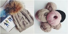knitted hats and yarn balls