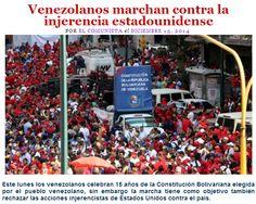 Venezolanos marchan contra la injerencia estadounidense