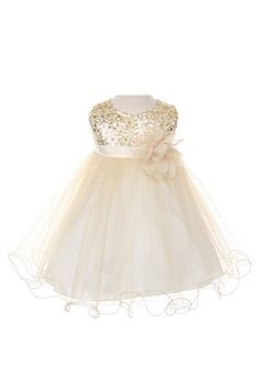 Sequin & Tulle Special Occasion Holiday Dress - Gold Baby XL (18-24 Month) Kids Dream http://www.amazon.com/dp/B00FAX7W30/ref=cm_sw_r_pi_dp_YChTtb1Z45BABX4G