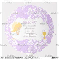Shop First Communion Blonde Girl Purple Damask Balloon created by KPW_Invitations. Helium Gas, Photo Balloons, First Communion Invitations, Balloon Shapes, Custom Balloons, Blonde Boys, First Holy Communion, Boy Blue, Invitation Design