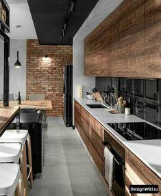Modern Kitchen Interiors, Modern Kitchen Design, Interior Design Kitchen, Modern Kitchens, Interior Ideas, Gym Interior, Apartment Kitchen, Home Decor Kitchen, Kitchen Ideas