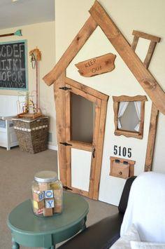 Amazing DIY indoor playhouse for kids