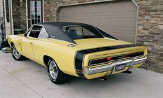 1970 Dodge Charger RT in Top Banana Yellow.