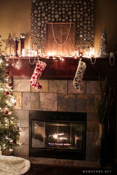 How to Create a Beautiful Holiday Mantel. #PFdecorates #ad