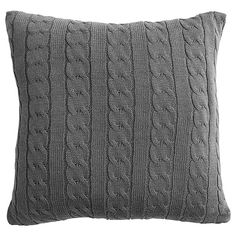 Cable Knitted Cushion 45 x 45cm - Grey | Target Australia