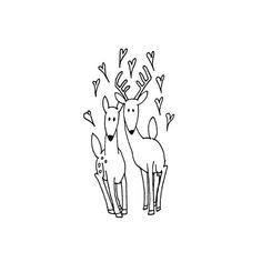 Deer Hand Embroidery Pattern Valentine's by teenytinyhappythings,