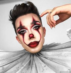 halloween pennywise charles sisters makeup james it James Charles Halloween You can find James charles makeup looks and more on our website Cool Makeup Looks, Creative Makeup Looks, Crazy Makeup, Awesome Makeup, Halloween Makeup Clown, Halloween Makeup Looks, Scary Halloween, Vintage Halloween, Vintage Witch