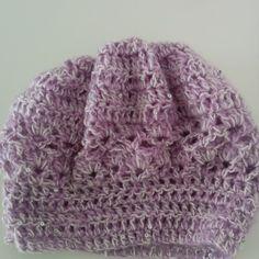 Χειροποίητο πλεκτό σκουφί φαρδύ λιλά με άσπρο Crochet Hats, Beanie, Fashion, Knitting Hats, Moda, Fashion Styles, Beanies, Fashion Illustrations, Beret
