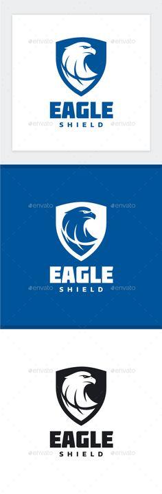 Eagle Shield Logo Template PSD, Vector EPS, AI Illustrator. Download here: https://graphicriver.net/item/eagle-shield-logo/17527406?ref=ksioks