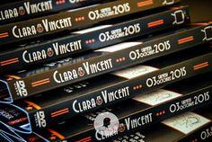Faire-part de mariage sur-mesure thème séries tv - cinéma jaquette dvd avec coupons en forme dvd www.lafilleaunoeudrouge.fr
