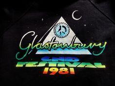 GLASTONBURY FESTIVAL ORIGINAL 1981 VINTAGE SWEATSHIRT - MEDIUM