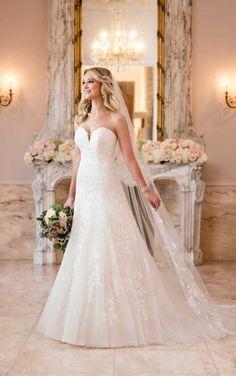 6680 Bombshell A-Line Wedding Dress by Stella York